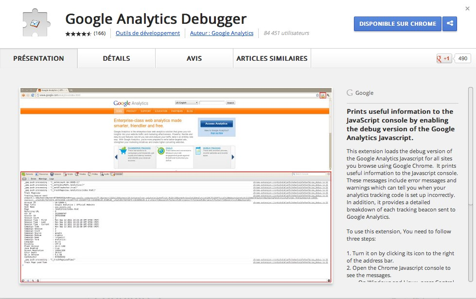 Chrome Web Store - Google Analytics Debugger