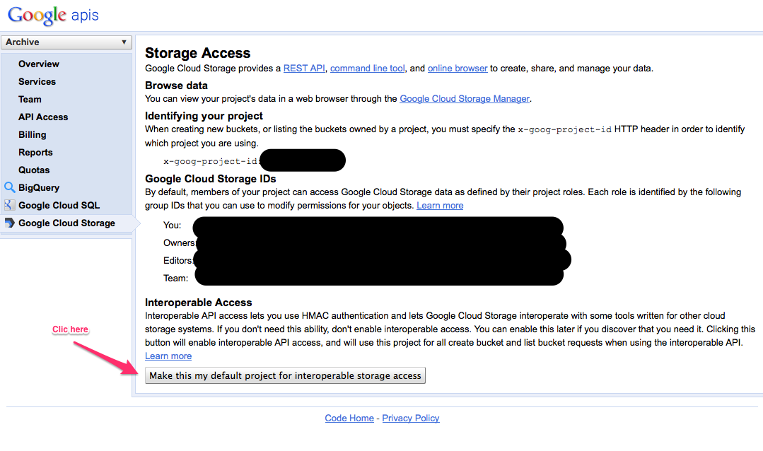Access your Google Cloud Storage with Cyberduck - Fruit du