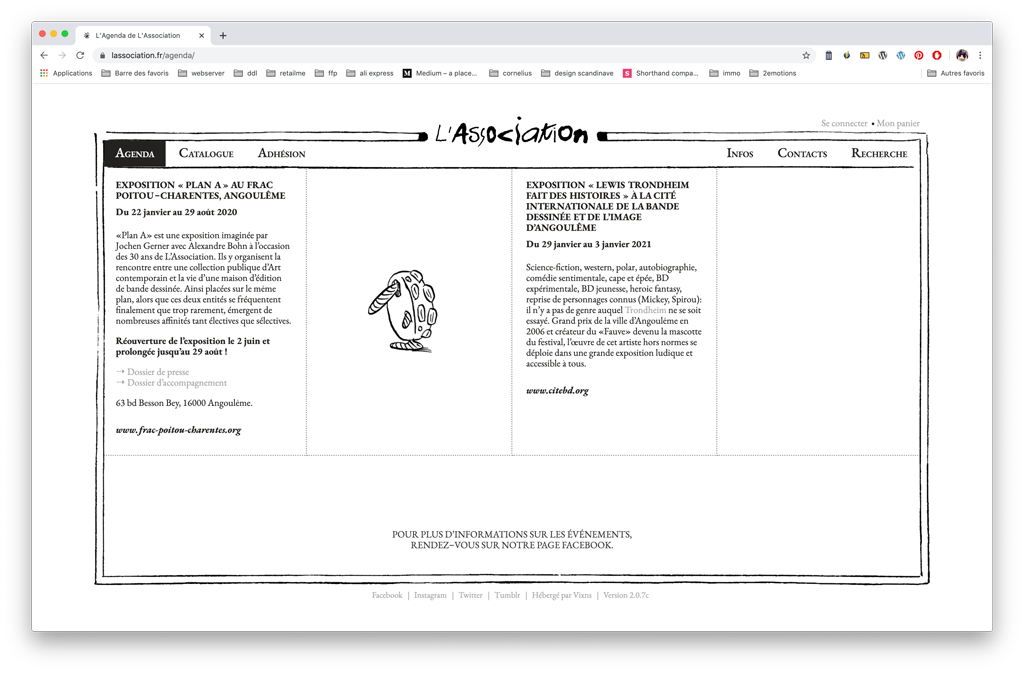 L'Association - agenda
